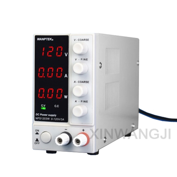 NPS1203W 120V3A Adjustable Phone Maintenance DC Power Supply Mini Switching Regulated DC Power Supply With Power Display