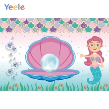 Yeele Mermaid Birthday Photocall Pearl Room Decor Photography Backdrops Personalized Photographic Backgrounds For Photo Studio