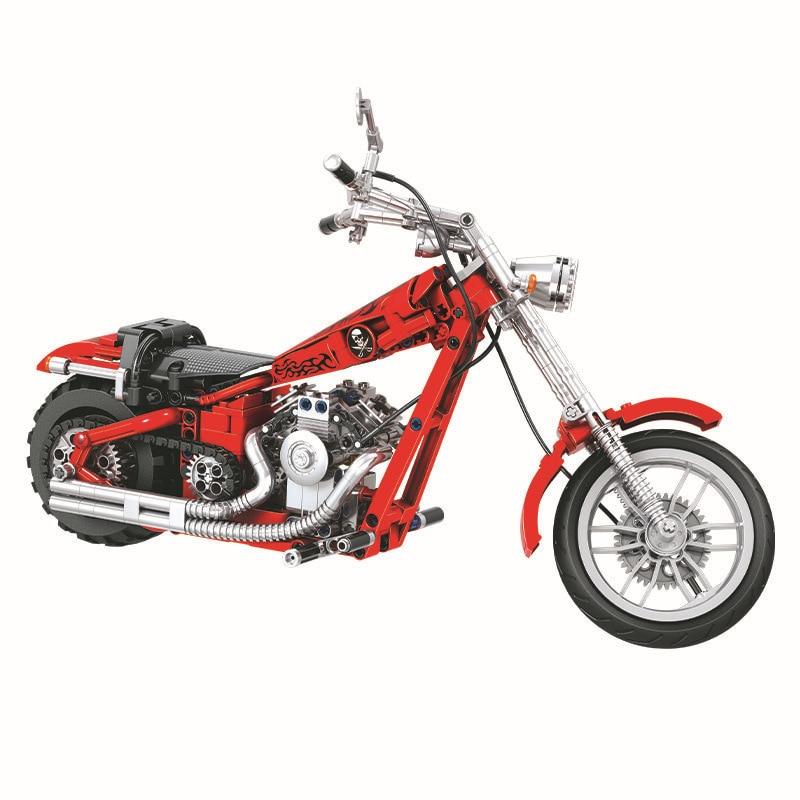 568 unids Diy Technic Series Cruising Motorcycle Building Blocks - Juguetes de construcción - foto 2