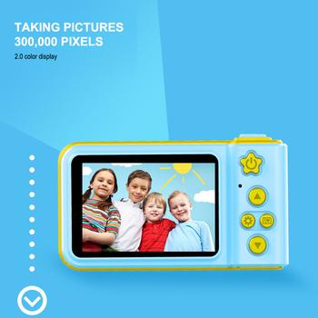 Aparat cyfrowy dla dzieci mały uroczy aparat fotograficzny mały aparat SLR Motion aparat zabawka gra animowana zdjęcie prezent urodzinowy dla dzieci prezenty UM tanie i dobre opinie OLOEY 2x Brak Full hd (1920x1080) CMOS 2 3 cali 16-50mm 5 0MP C2122 Karta sd Ekran dotykowy 2 -3 Jpeg Teleskopowa