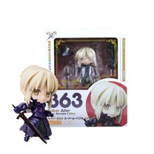 #363 Nendoroid Fate/Stay Night Saber Lily Darkness Female knight PVC Figure free shipping 10 fate stay night saber lily 10th anniversary wedding dress regal robes black boxed 25cm pvc action figure model