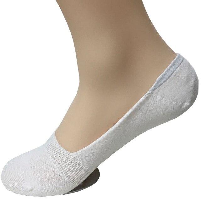 652fce2aa21cd Coton Femmes Chaussette Pantoufles Pied Doublures pour Femme Cheville  Polyester Peds Chaussettes Invisible Bateau Silicone Ped