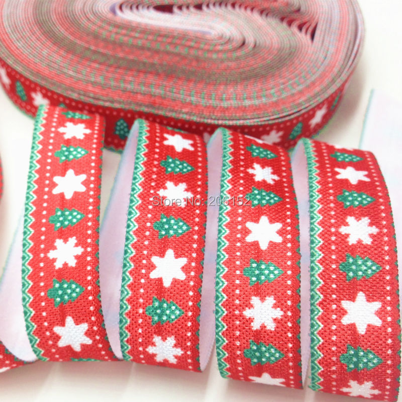 "5 Yds Christmas Light Blue Silver Snowflake Satin Ribbon 5//8/""W"