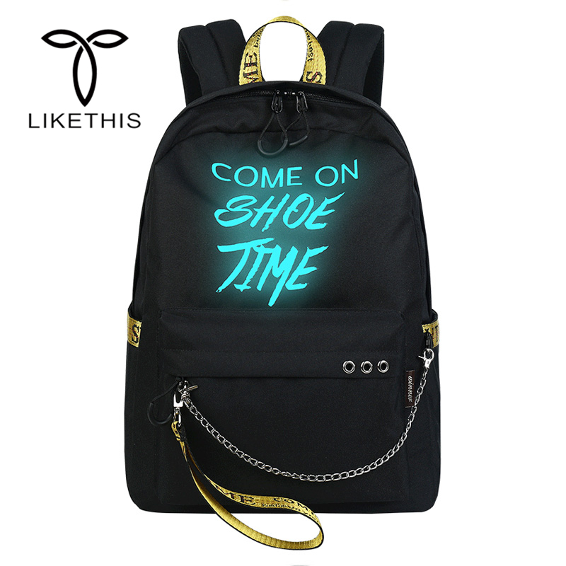 Casual Luminous Backpacks Travel Bag Mochila Feminina Super Quality Fashion Bags School Backpack For Teenage Girls Backpack 9169 women backpack bag real leather backpacks for teenage girls school bags fashion travel backpack youth rucksack mochila feminina
