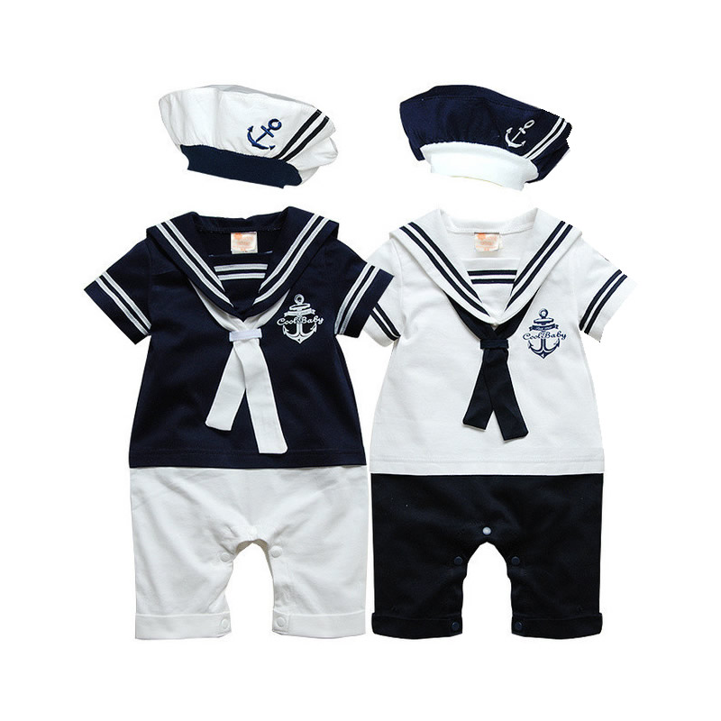 Baby rompers Navy Sailor uniforms summer baby clothes ...