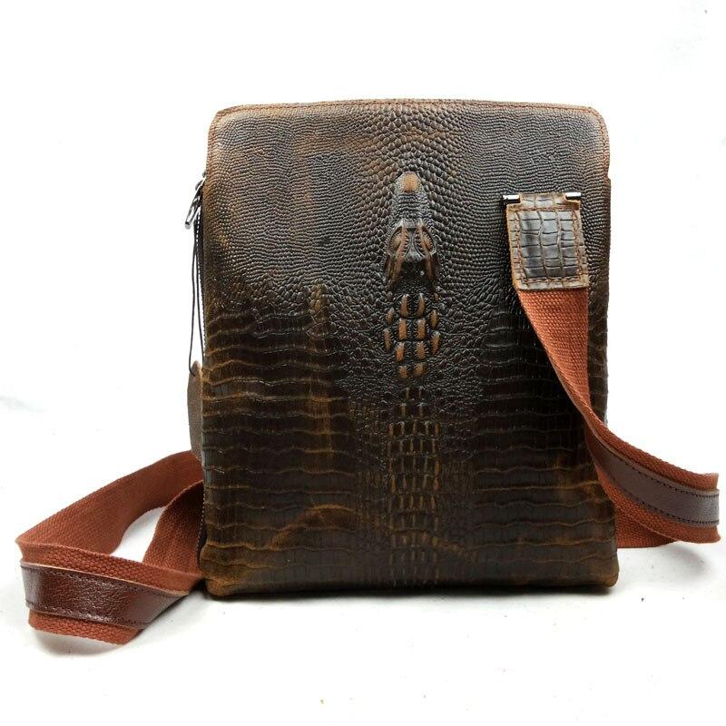 Aliexpress.com : Buy Genuine Leather men bag vintage men Messenger ...