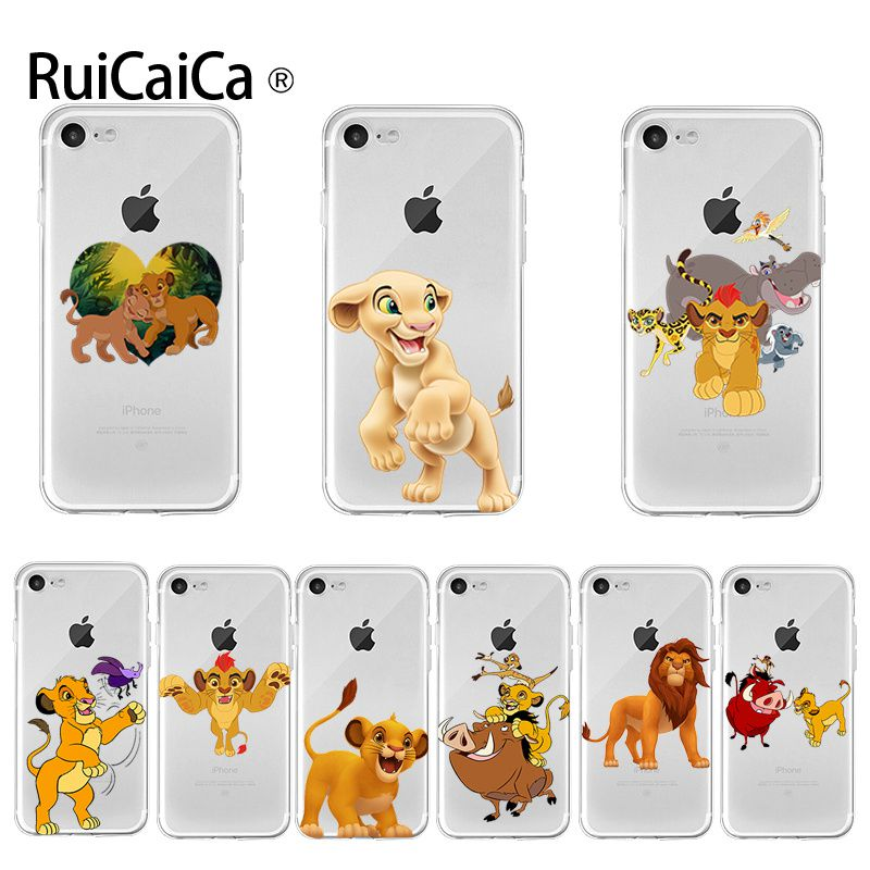 Ruicaica Cartoon <font><b>Lion</b></font> <font><b>king</b></font> 2019 Colored Drawing phone <font><b>Case</b></font> for Apple <font><b>iPhone</b></font> 8 7 <font><b>6</b></font> 6S Plus X XS max 5 5S SE XR Cover image