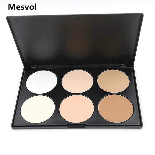 Foundation 1 pcs Professional 6 Colors Pressed Powder Repair capacity powder Palette 01#