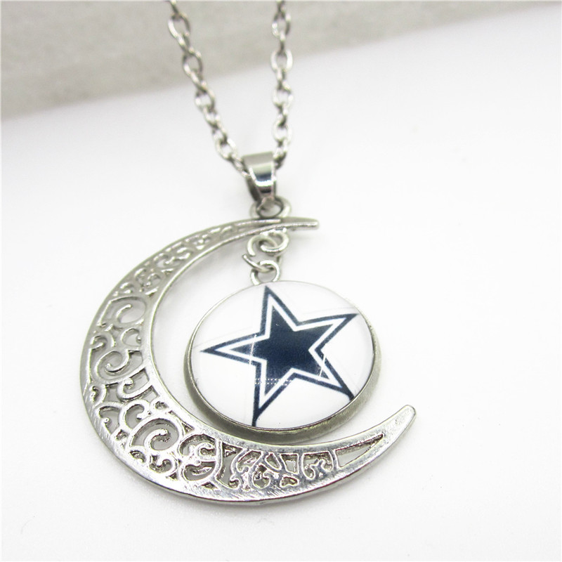 New 10pcslot dallas cowboys heart necklace moon pendant jewelry new 10pcslot dallas cowboys heart necklace moon pendant jewelry with chains necklace diy jewelry football sports charms in pendant necklaces from jewelry aloadofball Gallery