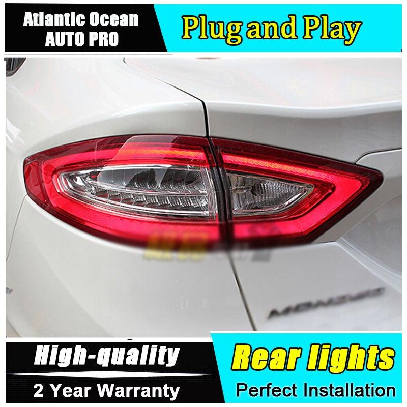 JGRT для Mondeo 2013-2015 задние фонари светодиодные задние фонари аксессуары для Мондео светодиодные противотуманные фары на Mondeo стайлинга автомобилей