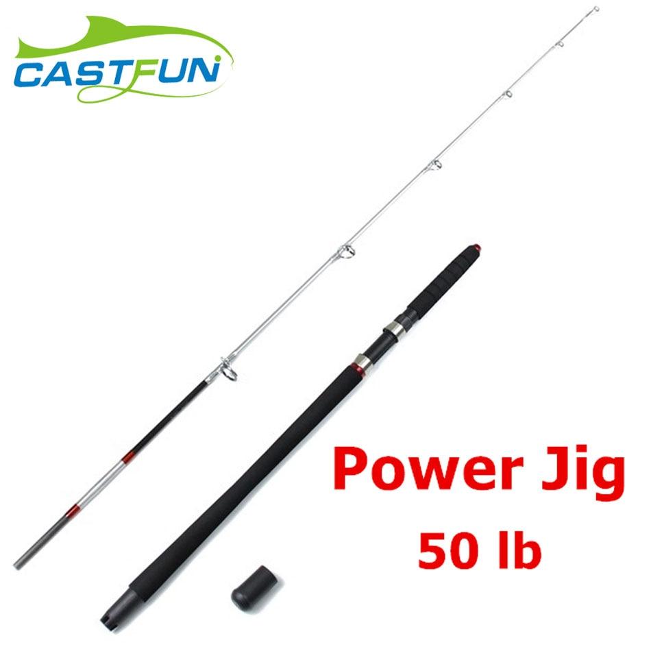 Castfun High Quality 1.98m 2.1m 1+1 Section Fishing Rod Jigging Rod Power Jig Carbon Jig Rod удочка fishing rod 1