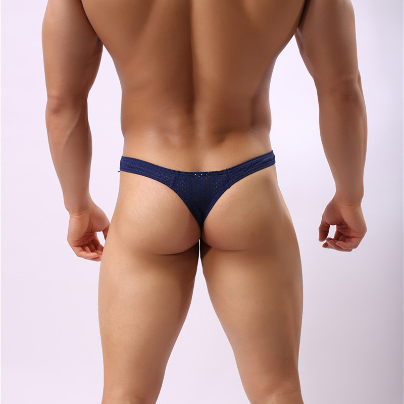 Sexy Men Briefs Penis Pouch Underwear Bulge Underwear Sexy Briefs Low Waist Breathable Hole Gay Men Sunny Boy Briefs Thongs