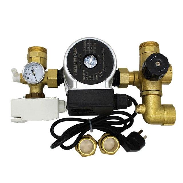 thermostat pumpe mixer f r wasser fu bodenheizung verteiler mischventil wasser. Black Bedroom Furniture Sets. Home Design Ideas