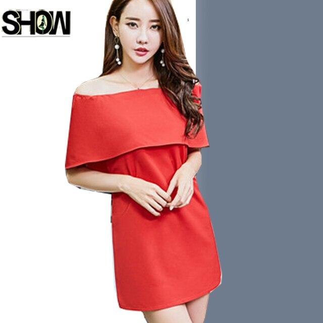 fd52c7e33cc8 Sexy Strapless Dresses New Korean Style Women Fashion Ruffled Black Red  White Ladies Club Party Off