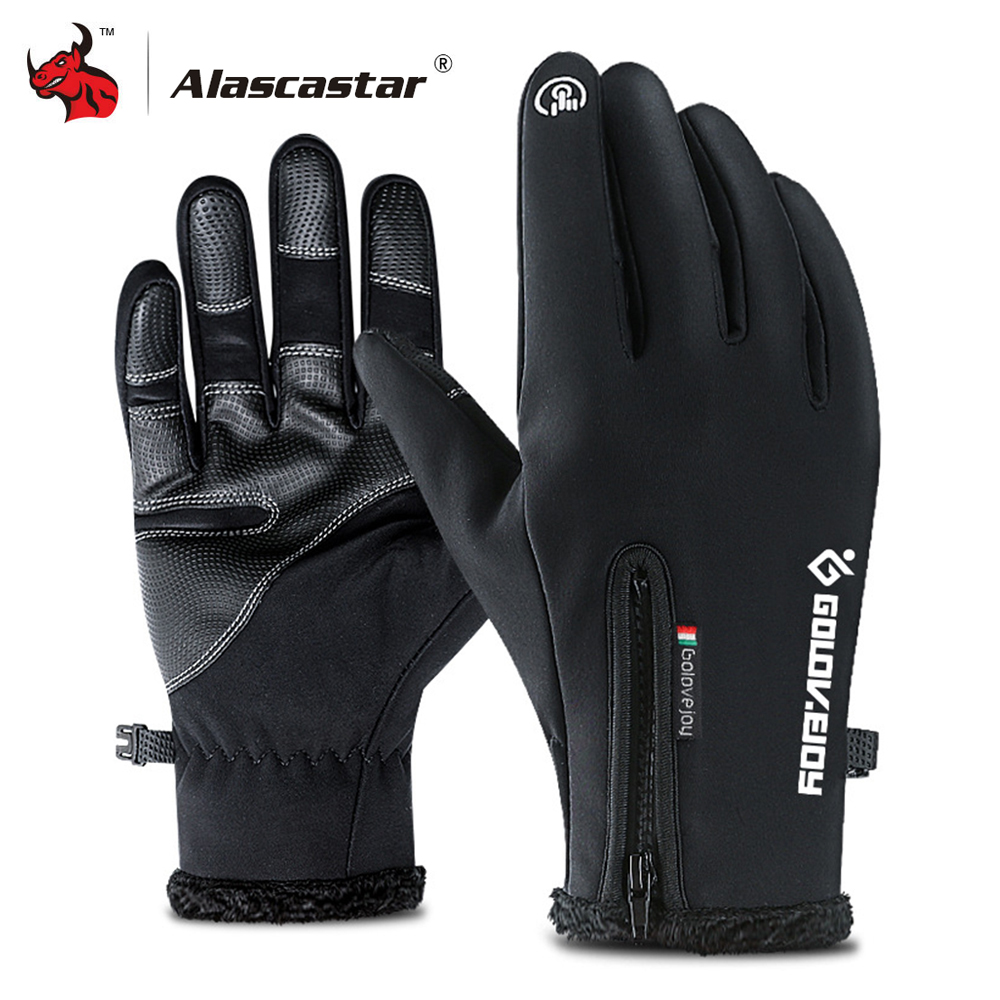 Motorcycle Gloves Winter Warm Waterproof Windproof Protective Gloves Touch Screen Guantes Luvas Warm Fleece Lined Gloves