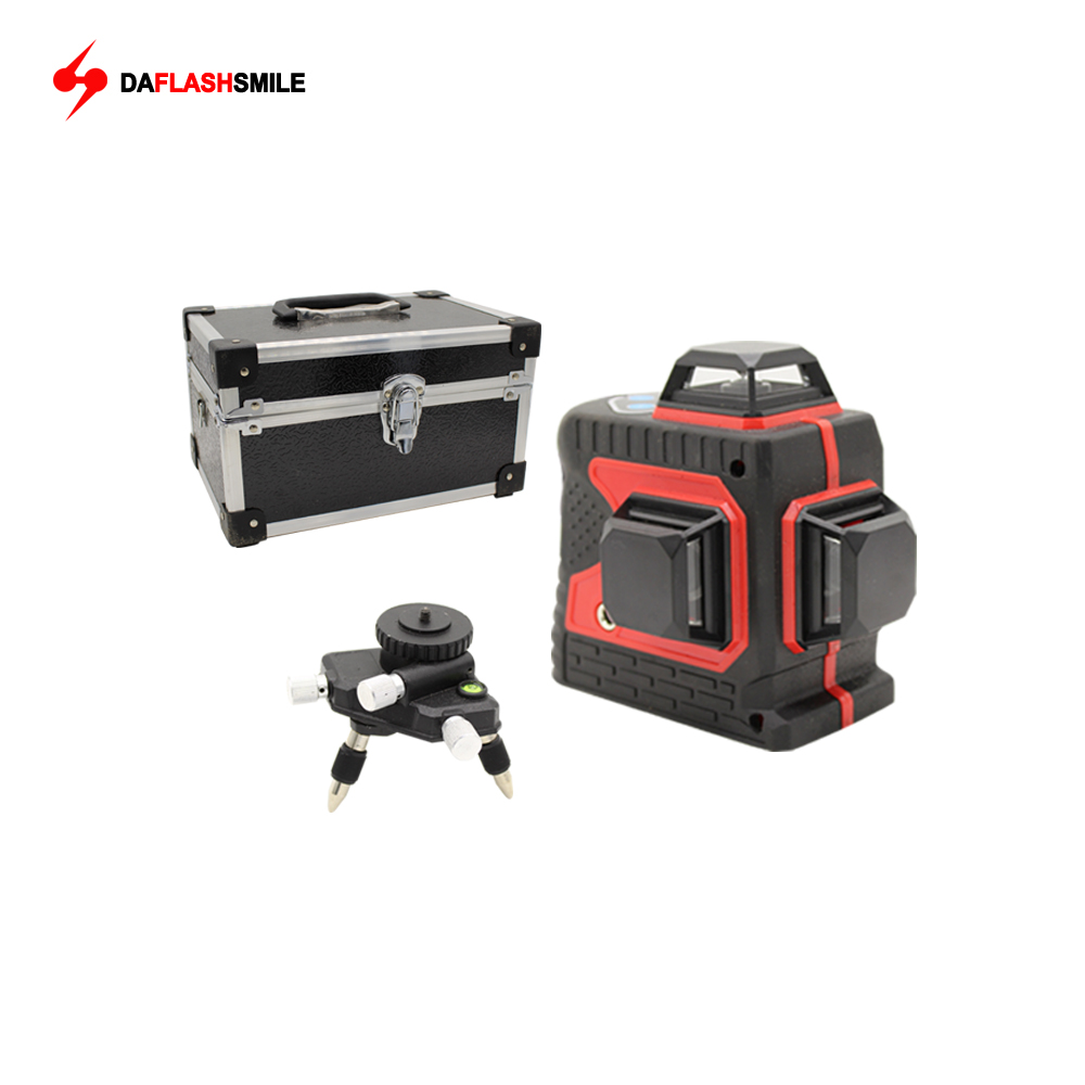 Big Strong 3D 12 Red Lines Laser Level Thick 360 Horizontal And Vertical Cross Super Powerful
