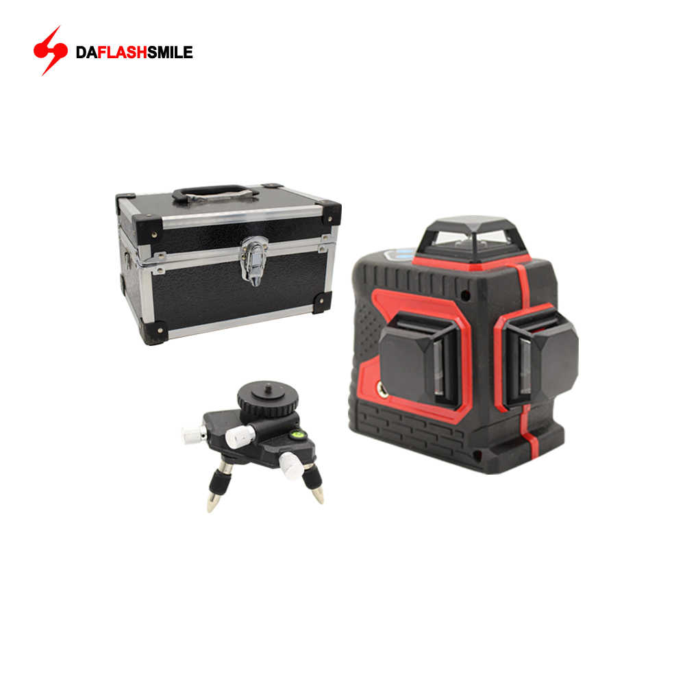 Big Strong 3D 12 Red Lines Laser Level Thick  360 Horizontal And Vertical Cross Super Powerful Bright Laser Level