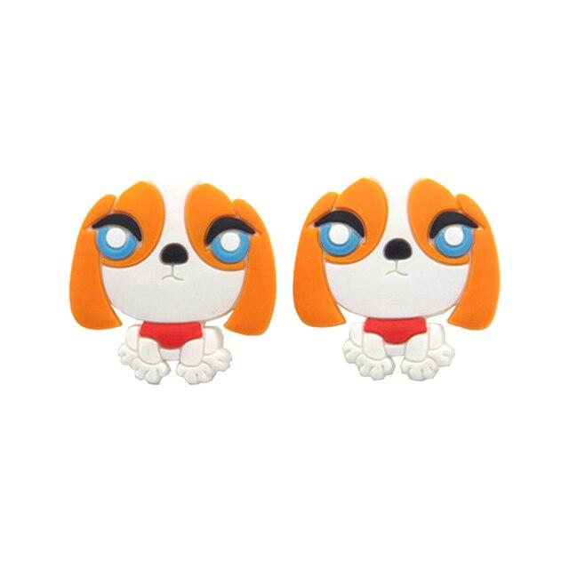 10PCS Hot Sale Soft Gum Dresser Drawer Knobs Pulls For Kids Children  Cartoon Dog Cabinet Cupboard