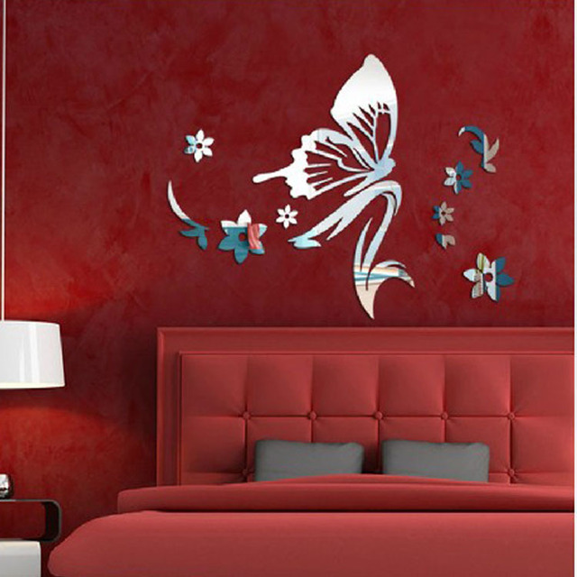 Acrylic Diy Wall Stickers Geometry Crystal Modern Design Luxury Mirror Contact Paper Bedroom Living Wallpaper