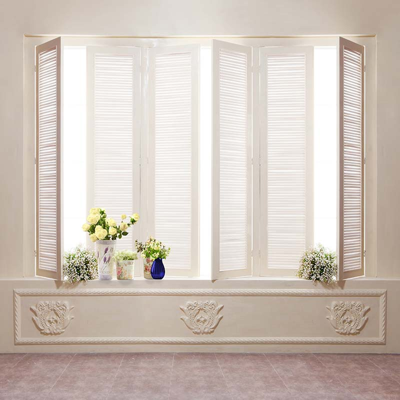 Indoor vinyl cloth dream room window flower photography backdrops for wedding newborn kids photo studio portrait backgrounds