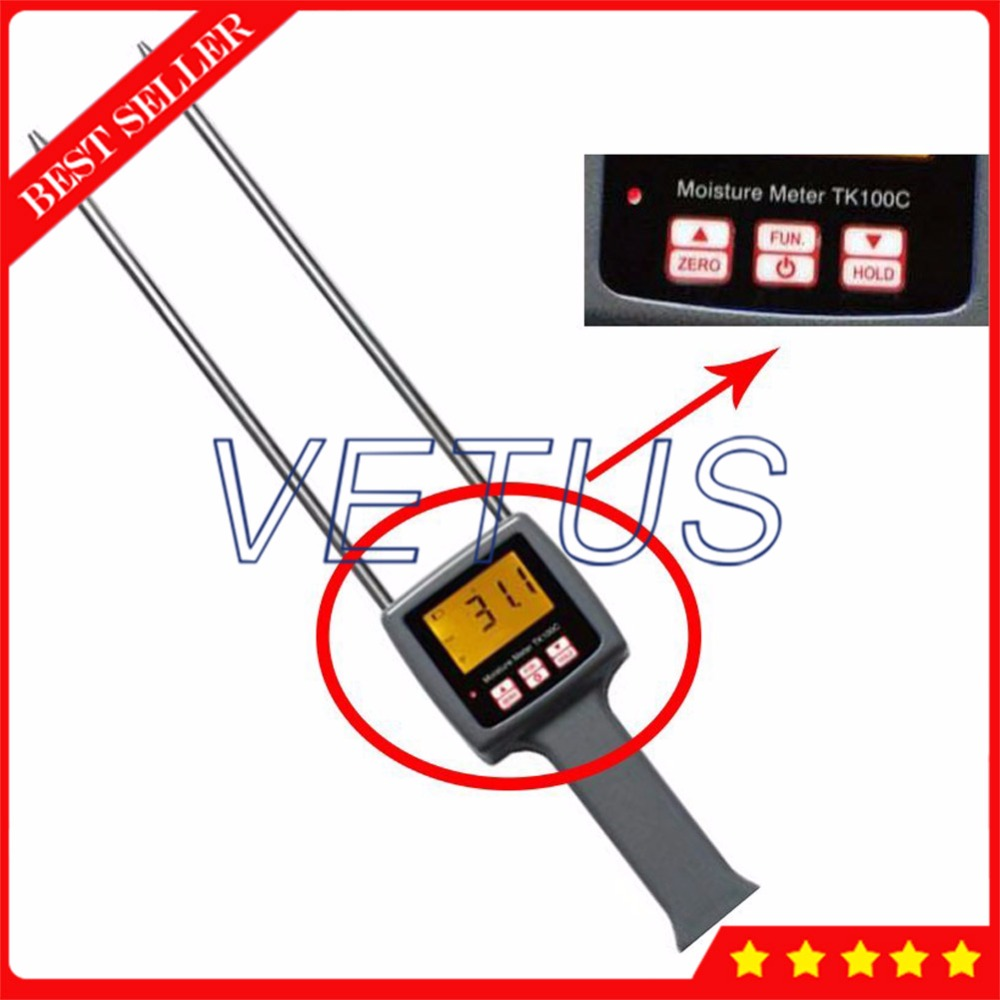 4 digital LCD Moisture Analyzer with 5%-40% TK100C Cotton Moisture Meter Content Testing Equipment benetech gm610 1 75 lcd moisture meter black orange