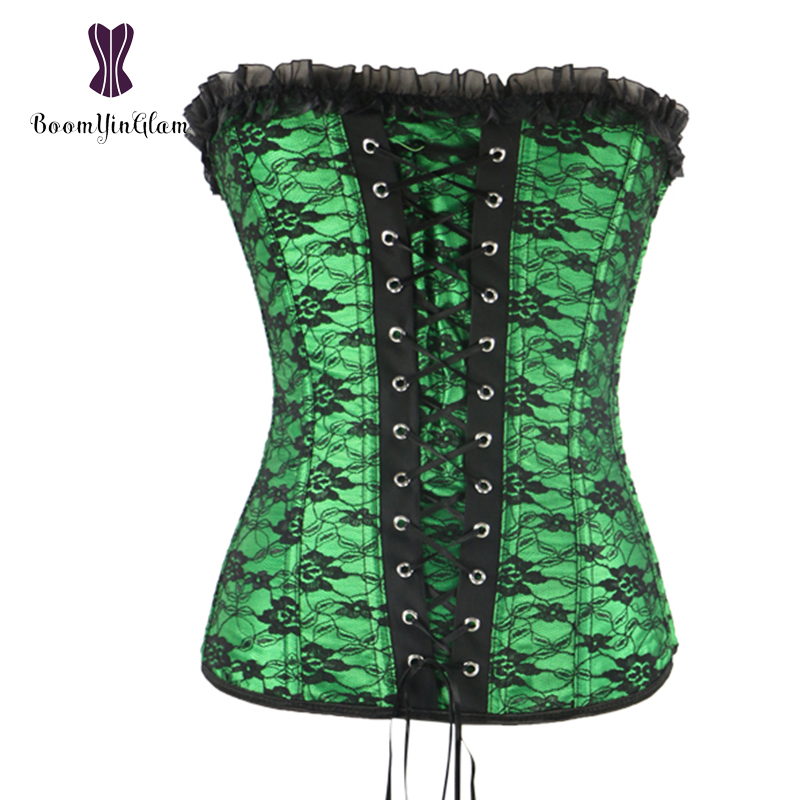 Wholesale Body Shapewear Women   Bustier   Intimated Slimming Appliques Floral Lace Up Boned   Corset   880#