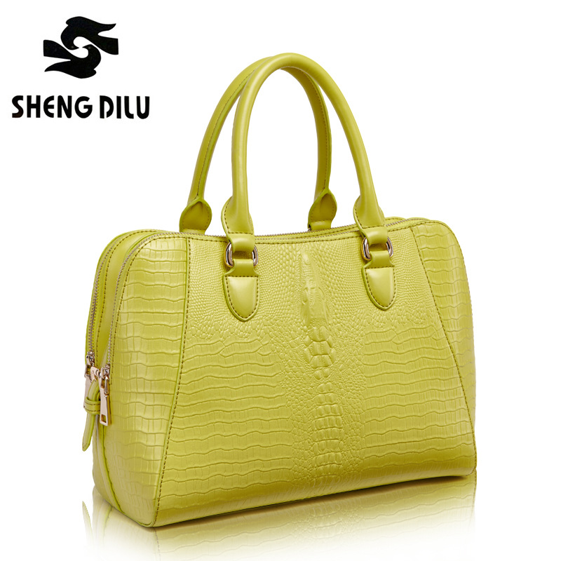 ShengDiLu Fashion Brand 2017Women Genuine Leather Handbags sheepskin Messenger Bags Female Crossbody Large Lady Shoulder Bags cossloo women genuine sheepskin leather handbags messenger bags real leather handbags fashion large shoulder bags free shipping