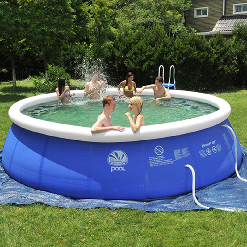 US $156.42  Inflatable Above Ground Swimming Pool Easy Set For Adults Kids  7 Size Large Blue PVC Infant Swim Accessories-in Pool & Accessories from ...