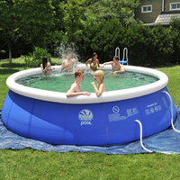 Inflatable Above Ground Swimming Pool Easy Set For Adults Kids 7 Size Large Blue PVC Infant Swim Accessories