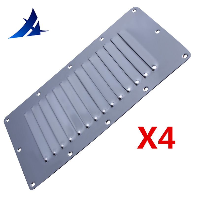 """STAINLESS STEEL BOAT VENT LOUVERED VENTILATOR VENT NEW  9/"""" X 5/"""" CABIN ENGINE ETC"""