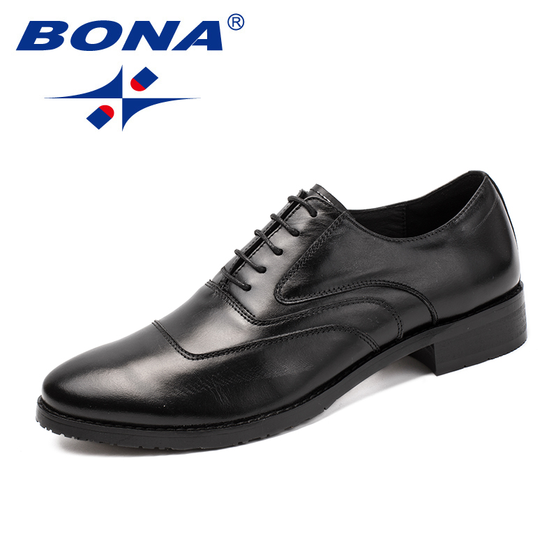 BONA New Arrival Classics Style Men Formal Shoes Lace Up Male Dress Shoes Genuine Leather Men Office Shoes Fast Free Shipping free shipping dhl brand new cow leather clothing man s 100% genuine leather jackets classics men s slim japan style jacket