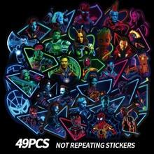 49PCS Neon Super Hero Graffiti Stickers Skateboard Motorcycle Luggage Stickers for Laptop Skateboard Suitcase Waterproof Sticker