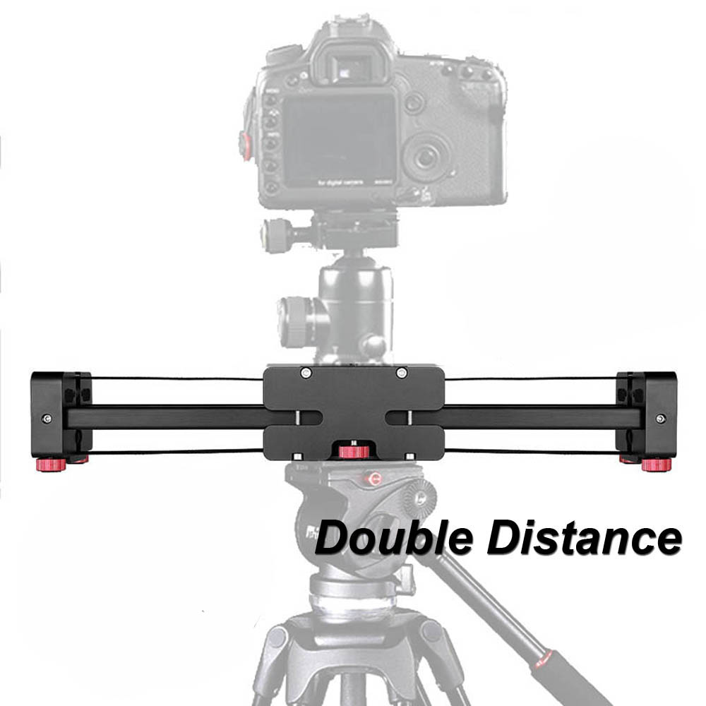 Pro 20/50cm Aluminum Extendable Double Travel Distance Track Dolly Rail DSLR Video Slider for Canon Nikon Sony Camera Camcorder колонки tannoy mercury 7c walnut