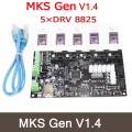 MKS Gen V1.4 3D printer control board +5PCS DRV8825 stepper motor Mega 2560 R3 motherboard RepRap Ramps1.4 compatible, with USB