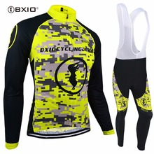 BXIO Winter Thermal Fleece Cycling Sets Warm Long Sleeve Bike Clothing Equipacion Ciclismo Ropa Ciclismo Bicycle Clothes 083