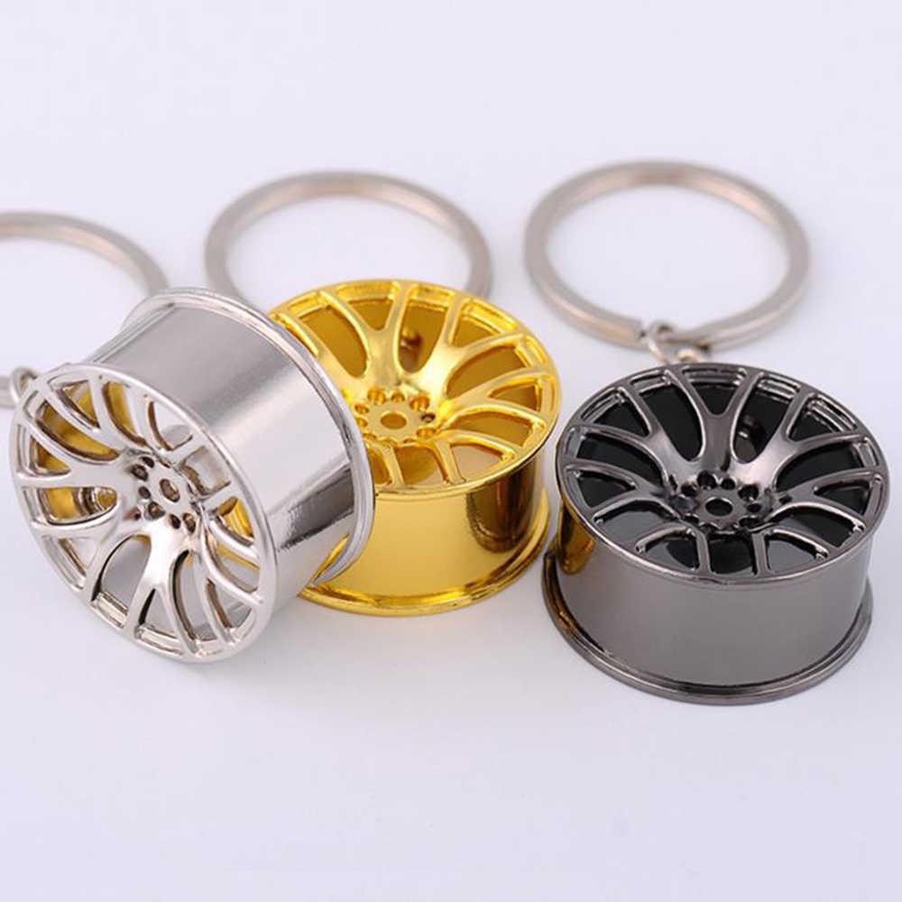 Suti New Cool Design de Luxo metal Keychain Chave Do Carro Cadeia Chaveiro criativo cadeia de cubo de roda Para As Mulheres Homem Presente