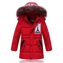2016 Мода Девушки Зима пуховики Пальто теплый девочка 100% толщиной утка Вниз Дети куртку Детей Outerwears для холодной зима