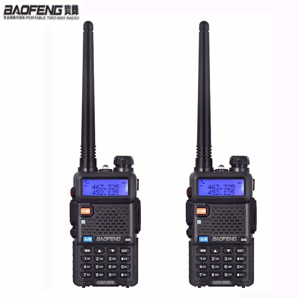 NEW 2 pcs Baofeng uv 5r ham Radio headsets Walkie Talkie 10 km For Two Way