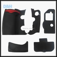 Novo um conjunto de borracha do corpo 5 pçs capa dianteira e capa traseira borracha para nikon d300 d300s câmera substituição peças reposição reparo