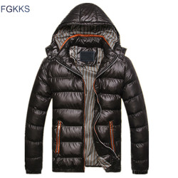Fgkks new men winter jacket fashion hooded thermal down cotton parkas male casual hoodies brand clothing.jpg 250x250