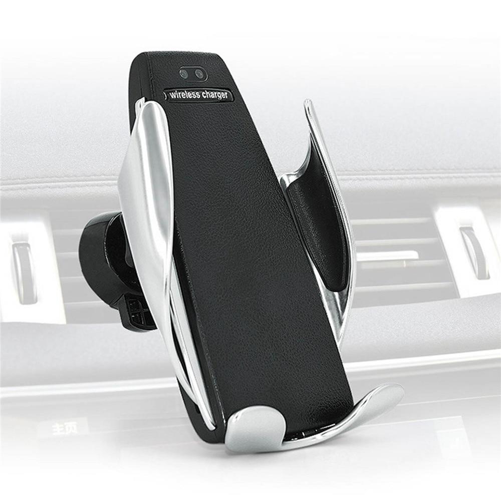 Автоматический зажим Беспроводной автомобиля Зарядное устройство для iphone Android вентиляционное отверстие держатель телефона вращение на 360 ...