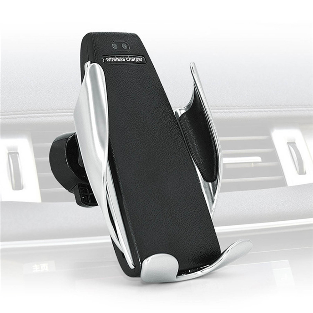 automatic clamping wireless car charger. Black Bedroom Furniture Sets. Home Design Ideas