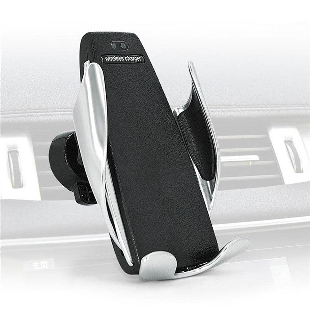 Sujeción automática inalámbrico cargador de coche para iphone Android de ventilación de aire para teléfono titular de la rotación de 360 grados de carga soporte de montaje