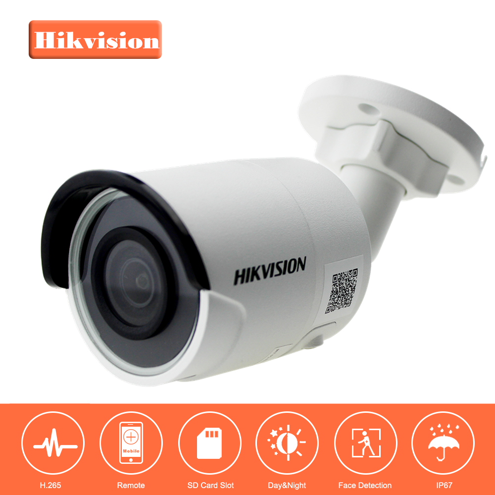Hikvision EasyIP3.0 Security IP Camera H.265 DS-2CD2055FWD-I 5MP Mini Bullet Network IP Camera with Night Version IP67 & Slot hikvision 3mp low light h 265 smart security ip camera ds 2cd4b36fwd izs bullet cctv camera poe motorized audio alarm i o ip67