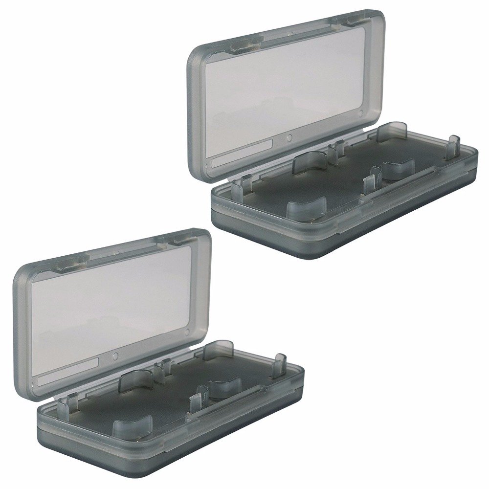 2-Pack Transparent Game Card Storage Cases for Nintendo Switch Video Games Accessories Protection Kit