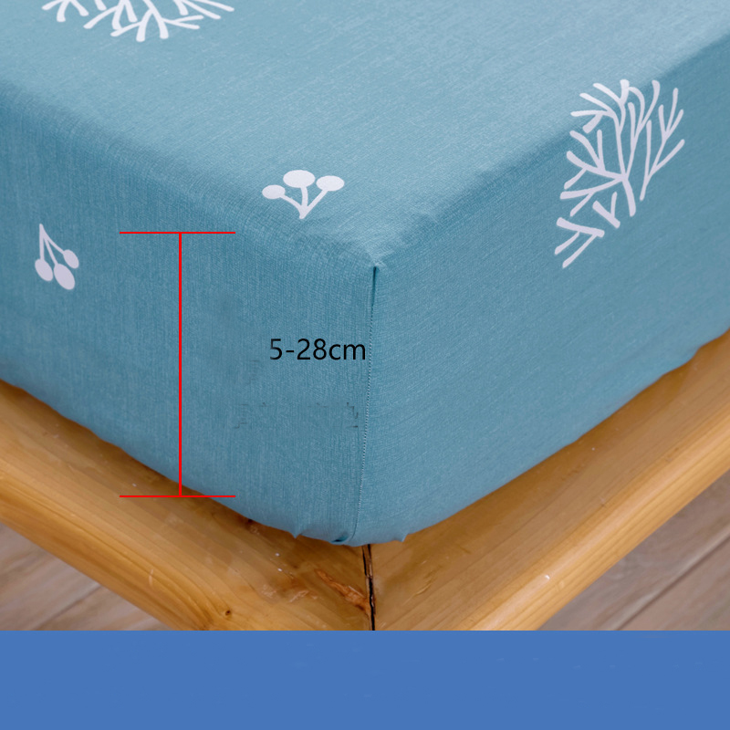 Floral Print Waterproof Sheets Bed Mattress Protector Waterproof Cotton for Single Size Bed 100 Cotton Mattress Cover 160x200cm in Mattress Covers Grippers from Home Garden