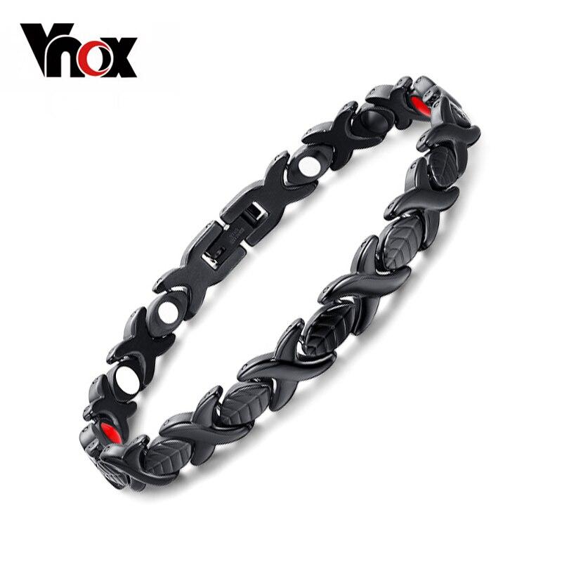 Vnox Women's Bracelet Bangle Magnetic Health Care Jewelry Free Adjustable Tool