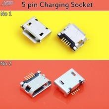 цена на JCD 30pcs New Micro USB 5pin Jack Female Socket For MP3/4/5 Mobile Tabletels Micro USB Connector 5Pin usb Jack Socket Female