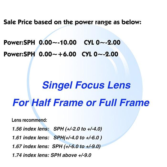 SKY & SEA OPTICA Gözlər üçün 1.61 Index Asulfic Lens CR39 resept - Geyim aksesuarları - Fotoqrafiya 2