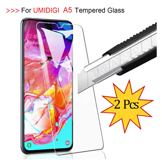 TRILANSER מזג זכוכית עבור Umidigi A5 פרו מסך מגן Umidigi A5 מגן זכוכית סרט Umidigi A5 טלפון זכוכית 2 pcs 2.5D